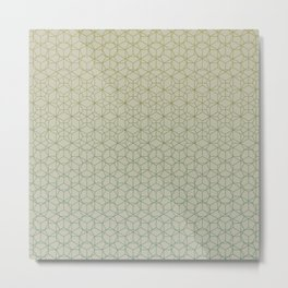Tessellation - Culture Clash - Polytone Khaki / Sea-green Metal Print