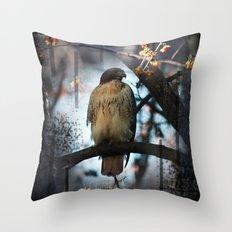 A Hawks Dream Throw Pillow