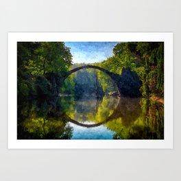 Circle Bridge Art Print