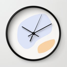Shape Study #13 - Peach Wall Clock