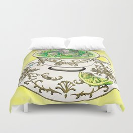 A Nice Hot Cup of Mitochondria Duvet Cover