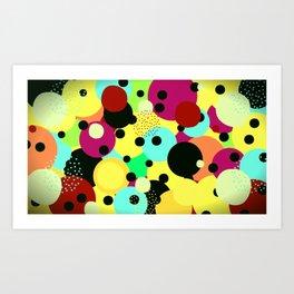 Imagine as cores !! Art Print
