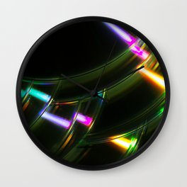 Stack of Compact Discs Abstract 6 Wall Clock