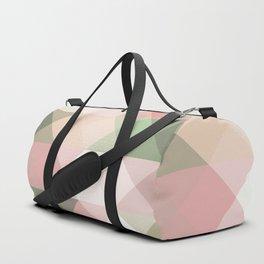 Modern blush tones pink abstract geometrical triangles Duffle Bag