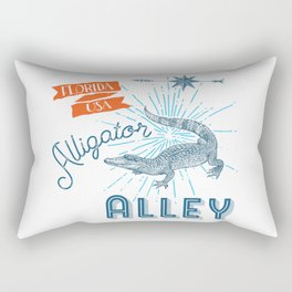 Alligator Alley Swamp Sanctuary Florida Rectangular Pillow