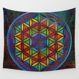 The Flower of Life (Sacred Geometry) 3 Wall Tapestry