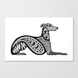 Zentangle Whippet Canvas Print