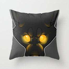 The Bad Dog-Orange Throw Pillow