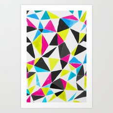 watercolor geometry CMYK Art Print