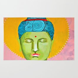 Even the Buddha needs a cuppa 2 Rug