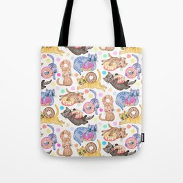 Sprinkles on Donuts and Whiskers on Kittens Tote Bag