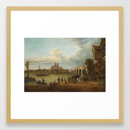 John Paul A View Of Westminster Bridge, Abbey And Hall From Stangate Bank, Lambeth Framed Art Print