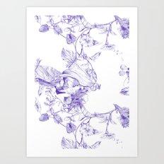 Jeweled Botanist Art Print