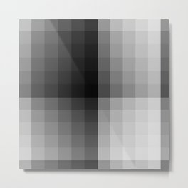 Value scale ..black , white  and grays Metal Print