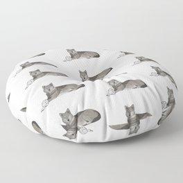 Volleyball Wolf Floor Pillow