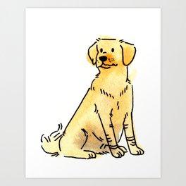 Latte - Dog Watercolour Art Print