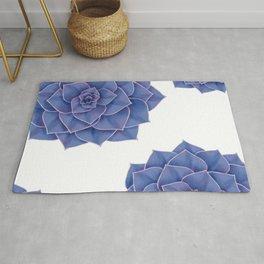 Elegant Big Purple Echeveria Design Rug