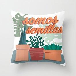 Somos Semillas Throw Pillow