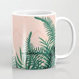 Tropical Ferns on Pink #society6 #decor #buyart Coffee Mug