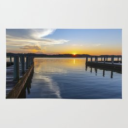 Sunset at the Boat Ramp Rug