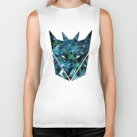 transformers Biker Tanks featuring Decepticons Abstractness - Transformers by DesignLawrence
