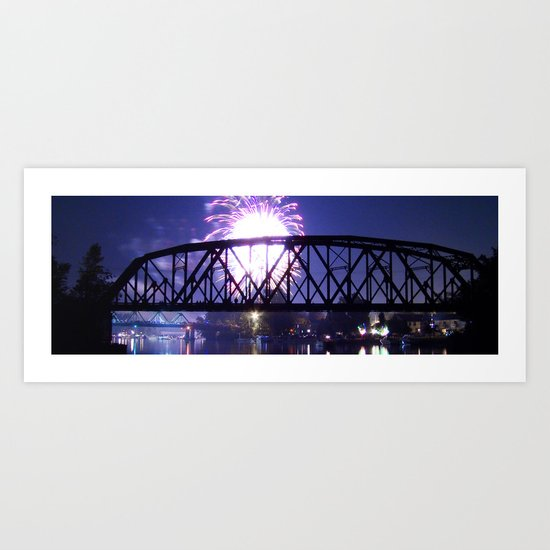 Bridge Burst Art Print
