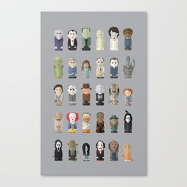 Horror Icons Canvas Print