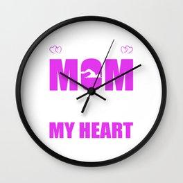 Swim Moms Full Heart Mothers Day T-Shirt Wall Clock
