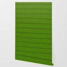 Emerald Damask Pattern Wallpaper