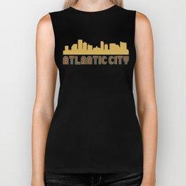 Vintage Style Atlantic City New Jersey Skyline Biker Tank