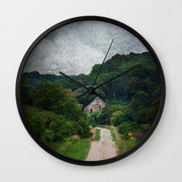 Peekaboo Barn Wall Clock