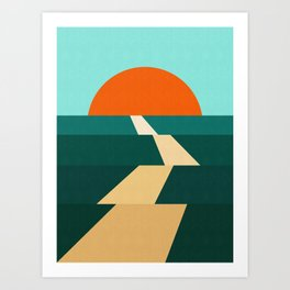 Abstract landscape XIII Art Print