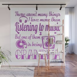 Listening To Music Grandma Wall Mural