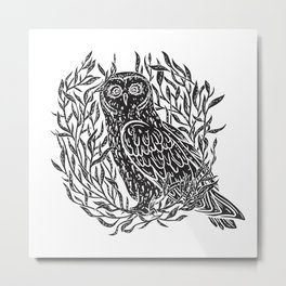 Magic Owl no1 Metal Print