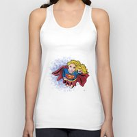 supergirl Tank Tops featuring Supergirl by Waterflybooks