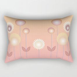 Design with flowers, abstract flower meadow, spring and summer Rectangular Pillow