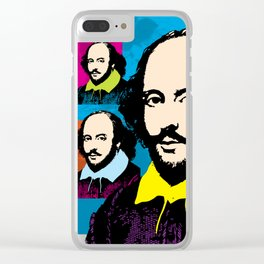 WILLIAM SHAKESPEARE (FUNKY-COLOURS MONTAGE) Clear iPhone Case