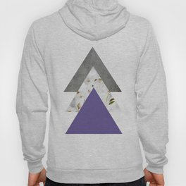 Ultra Violet Blossoms Arrows Hoody