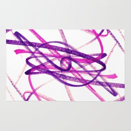 Twisted Violet Fuchsia Abstract Lines Rug