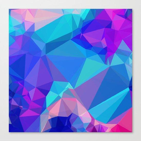 Neon Ice Canvas Print