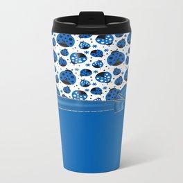 Fun Blue Ladybugs Travel Mug