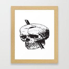 Frontal Lobotomy Skull Of Phineas Gage Vector Isolated Framed Art Print