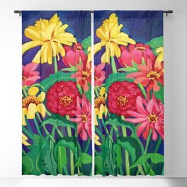 Zinnias Blackout Curtain