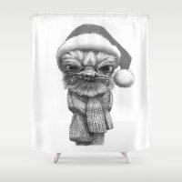 Christmas Ostrich G145 Shower Curtain