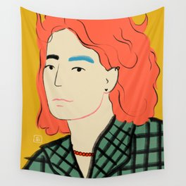 WOOL COAT GIRL Wall Tapestry