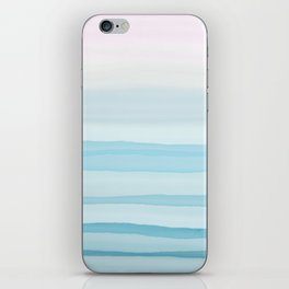 Watercolor pink and blue iPhone Skin