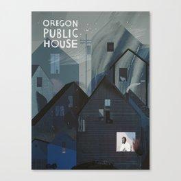 Oregon Public House Poster - 6 Canvas Print
