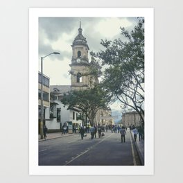 Cathedral at Historic Center of Bogota Colombia Art Print