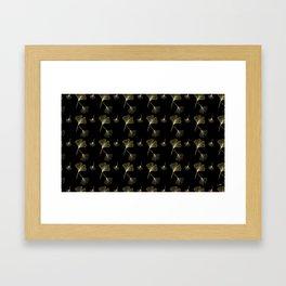 Ginkgo Black Gold Framed Art Print