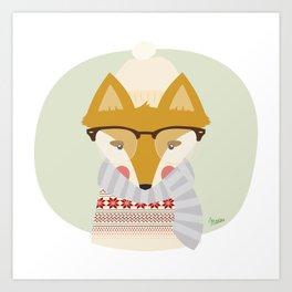 Cold Fox Art Print